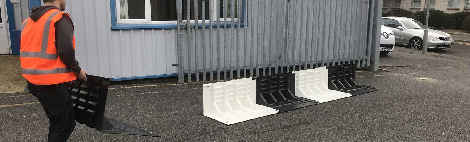 Carrying Banner Flood Fence Supply Force International